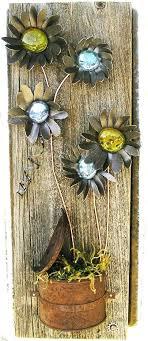 wood flower wall decor rustic fl wall decor flower wall hanging metal art reclaimed wood home