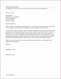 Sample Truck Driver Resume Fresh Truck Driver Resume Cover Letter