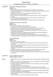 Construction Supervisor Resume Civil Supervisor Resume Samples Velvet Jobs 9