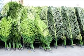 outdoor artificial palm tree leaves designs