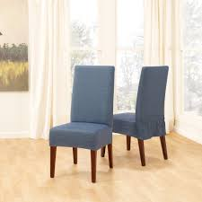 blue fabric slipcovers for dining room chairs made of wooden featuring white ds on glass windows