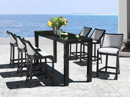 outdoor bar stools strike an exceptional modern style into any pattern on your outdoor dining or outdoor kitchen whether the patio furniture setting is at