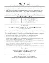 Resume Sample For Secretary Legal Secretary Resume Examples Assistant Download By Letsdeliver Co