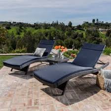 image outdoor furniture chaise. Luana Outdoor 3-piece Wicker Adjustable Chaise Lounge Set With Cushions By Christopher Knight Home Image Furniture I