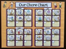 How To Make A Responsibility Chart Family Magnet Chore Chart Multiple Child Responsibility