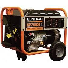 electric generator. Generac GP7500E 7500W/9375W Generator Electric Start RFB