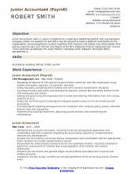 resume format for experienced accountant junior accountant resume samples qwikresume