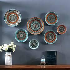 wall plates decoration decorative ceramic home ceramics dish hanging plate tered italian decor