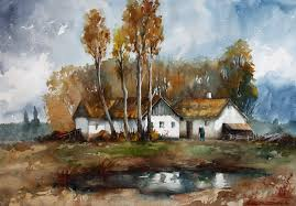 grandmothers house watercolor paintings by lilla schuch