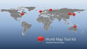 Map Of The World For Powerpoint World Map And Globes A Powerpoint Template From Presentermedia Com