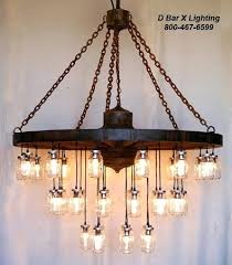 mason jar light fixture inch diameter wagon wheel chandelier with lights diy