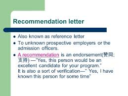 Recommendation Letters. Peer Assessment Sample Résumés From 2 ...