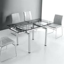 Table En Verre Avec Rallonge Table Cuisine Table En Verre Avec