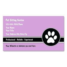 Pet Sitter Business Cards Professional House Sitter Pet Sitting Business Cards Professional
