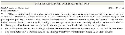 Writing A Pharmacist Resume Resume Tips Ihirepharmacy
