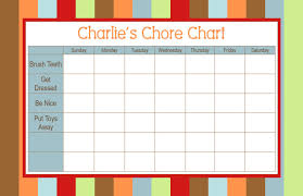 4 Person Chore Chart Developing Lifeskills Chores The Autism Community In