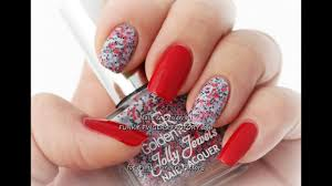 Red shellac nail designs - YouTube