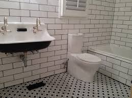 subway tile bathtub surround glass shower enclosure features tub faucet square shine crystal mirror metal vanity