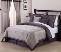 8pcs queen debois purple embroidered forter set dark grey comforter set
