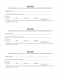 Pay Stub Template 7 Free Word Pdf Documents Download