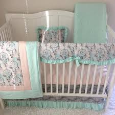 unique baby girl crib bedding baby bedding crib set baby girl mint teal c peach gray