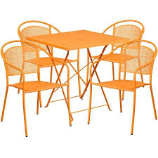 round patio table and chairs square indoor outdoor steel folding patio table set with 4 round round patio table and chairs