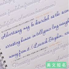 English Handwriting Practice Cursive Writing English Calligraphy Copybook For Adult