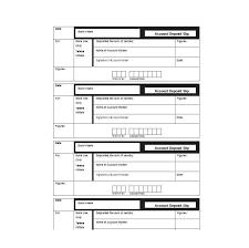Deposit Templates Check Deposit Slip Form Template Format Excel Bank Purpose
