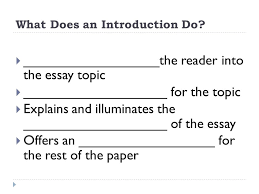 The Components Of An Essay English 1 Student Notes Ppt