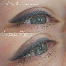 зажившие глазки растушевка после одной процедуры татуаж брови