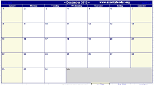December Calendar Excel December 2013 Calendar Printable December 2013 Calendar Monthly