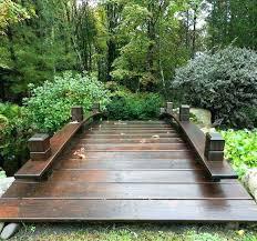 footbridge plans wooden garden bridge how to build a part 1 wood diy