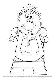 Small Picture How to Draw Cogsworth from Beauty and the Beast