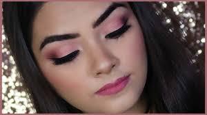 pink eye makeup tutorial huda beauty rose gold palette