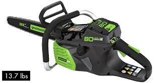 the green works best greenworks chainsaw 80v and 40v reviews