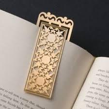 turkmenistan long bookmark in gold plate