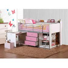 girls desk furniture. Girls Twin Loft Bed Storage Desk Furniture