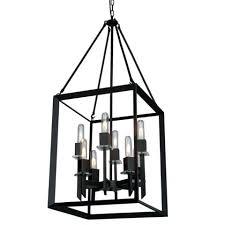 large black cage chandelier pendant lights lantern light metal