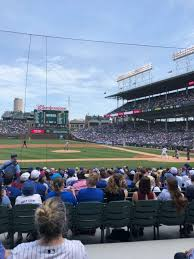 Wrigley Field Seating Chart Prices Wrigley Field Section 113 Home Of Chicago Cubs