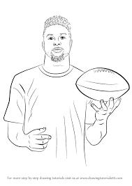 Step By Step How To Draw Odell Beckham Jr Drawingtutorials101com