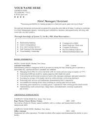 Sample Hotel Manager Resume Hotel Resume Format Agreeable Resume Samples Hotel Industry On