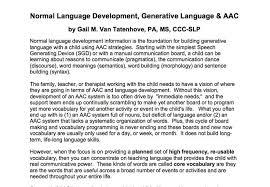 Child Vocabulary Development Chart Language Functions Early Generative Language Production By