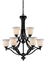 9 bulb steel chandelier