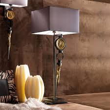 exclusive italian pewter table lamp