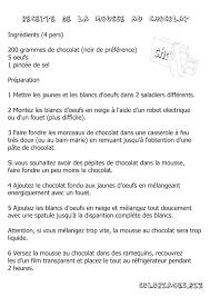 Coloriage Recette Coloriage De La Mousse En Chocolat Gratuit