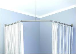 bathroom curtain rods bathroom curtain rods bathroom curtain rods new l shaped shower curtain rod tubs