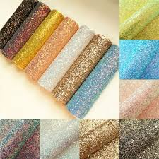 details about ultra chunky hologram glitter fabric vinyl faux leather material fo bows craft