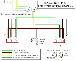 wiring diagram for 1970 chevy truck the wiring diagram tail light wiring the 1947 present chevrolet gmc truck wiring diagram