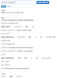 solving systems of equations using algebra calculator mathpapa clickable demo