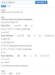 solving systems of equations using algebra calculator mathpapa clickable demo